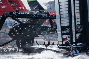 Emirates New Zealand almost capsizes in Americas Cup Race 8