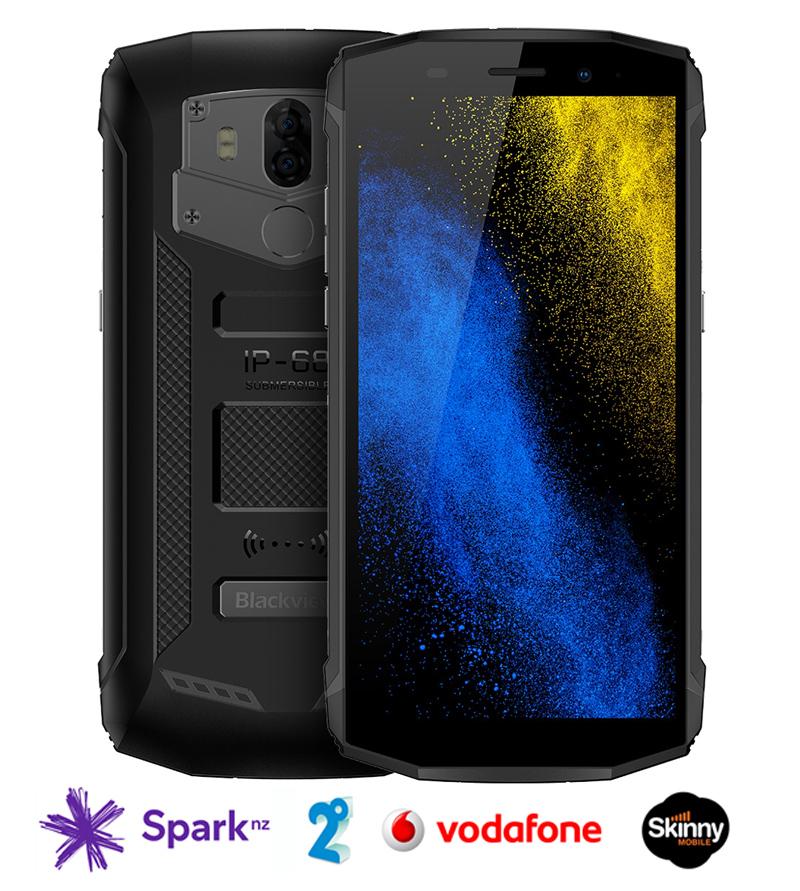 Blackview Bv5800 Pro Waterproof Rugged Smartphone 4g 2gb Ram 16gb Storage Fingerprint Unlock Black