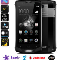 Blackview BV8000 Pro 64GB Android Phone with 2yr screen warranty* – IP68, Face Recognition, dual sim, Android 7, Octa-Core, 6GB RAM, 1080p, 2.6GHz upgrade, 16MP Samsung Cam (Gray)