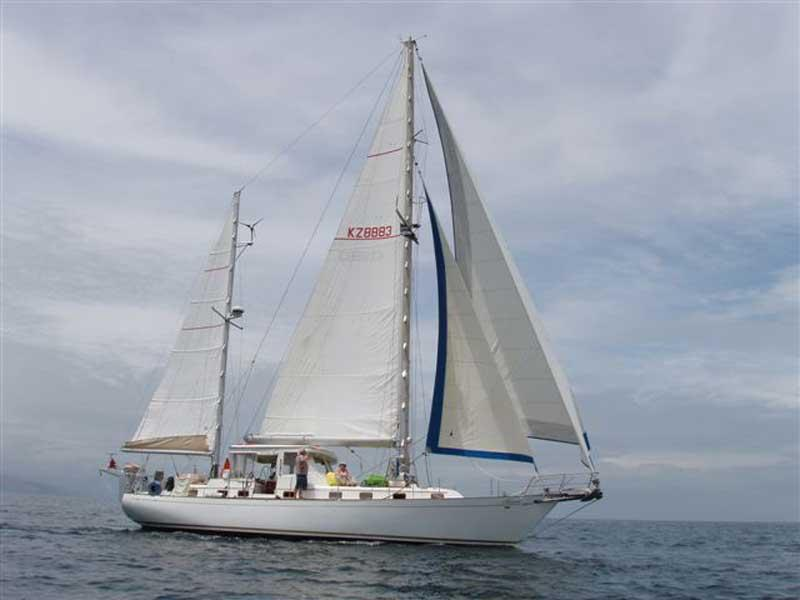 A Cheoy Lee 52 of the same type as drug ketch Maeva Chiqui. This is not Maeva itself.