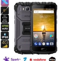 Ulefone Armor 2 Android Phone – Android 7.0, Helio P25 CPU, 6GB RAM/64GB ROM, 5-Inch FHD, IP68, Dual-IMEI, 4G LTE (Gray)