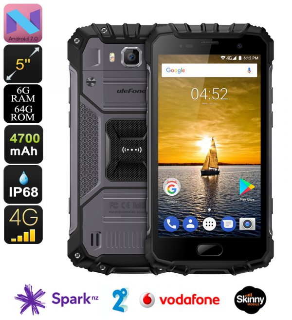 Ulefone Armor 2 Android Phone - Android 7 0, Helio P25 CPU, 6GB RAM/64GB  ROM, 5-Inch FHD, IP68, Dual-IMEI, 4G LTE (Gray)