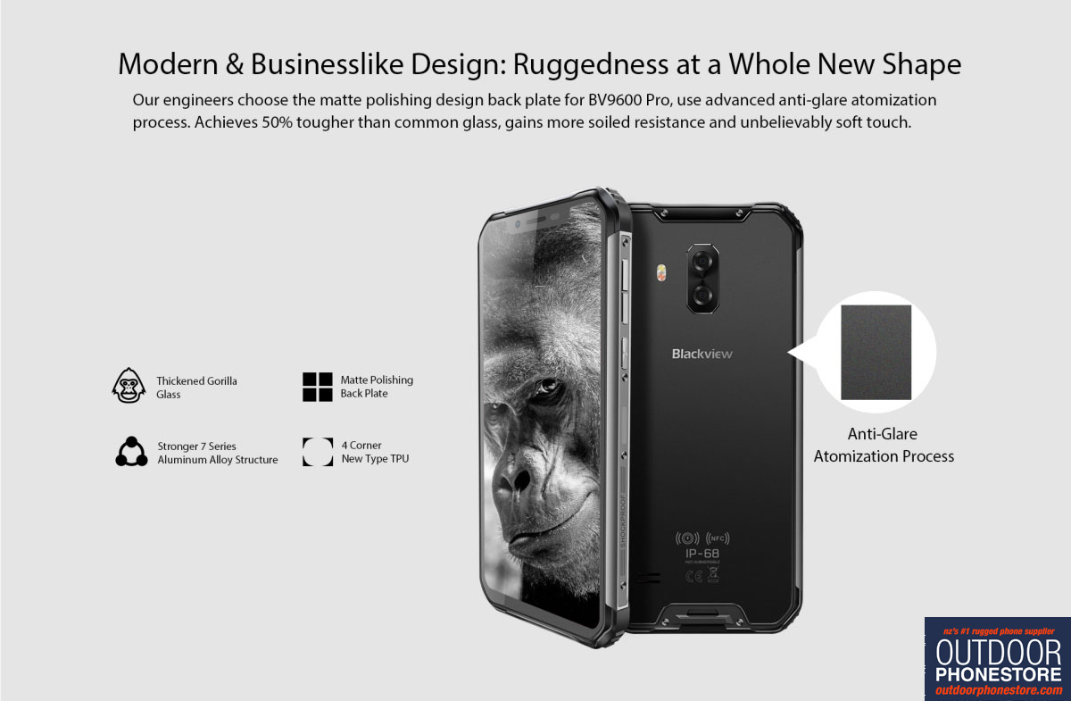 Blackview BV9600 Pro rugged phone - 6GB/128GB, First200 Warranty* Helio P60  AI chipset, IP69K, dual 4G sim, 16MP dual Samsung rear camera, Android 8 1